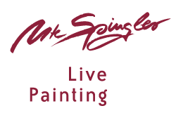 Ute Spingler live painting
