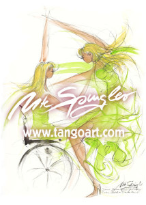 Catrin Wedel+Simone Kaminski tanzen bei den German Classics 2011 im wunderschönen weiblichen Outfit