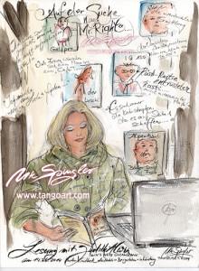 """Judith Alwin liesst aus Ihrem Buch """"In`s Netz gegangen"""" - im Hotel Bergström in Lüneburg"""