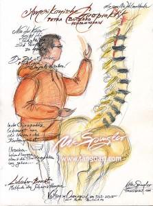 Petra Butschko demonstriert die amerikanische Chiropraktik