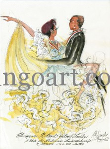 Eleonore Roland + Lembke tanzen ihren Siegertanz: Sie sind der Niedersächsische Landesmeister 2011