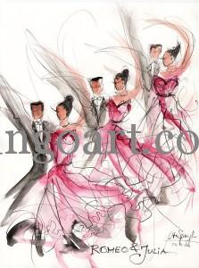 "Göttinger A-Team Formationstanz Standard 1.BL. tanzt ""Romeo+Julia"""