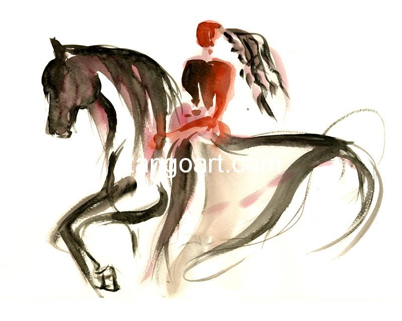 Pas de deux mit einem Pferd