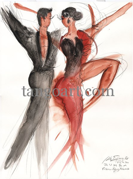 Rumba-getanzt von Viktoria und Sergey Tatarenko