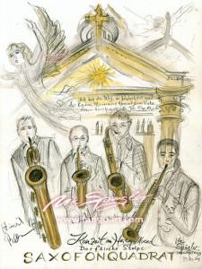 Beflügelndes Konzert mit Saxfonquadrat