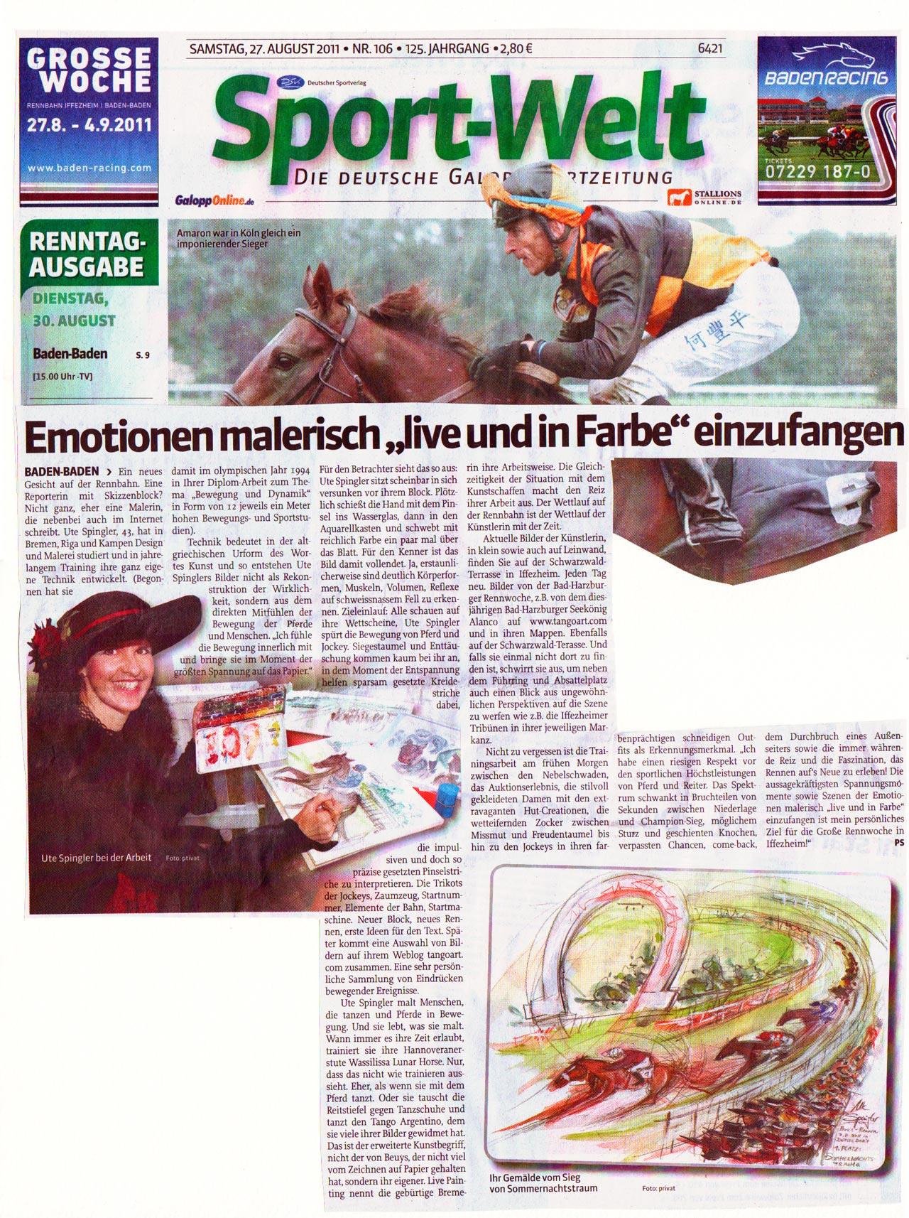 Die Sportwelt über Ute Spingler