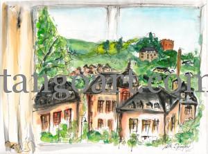Blick aus meinem Fenster-Zimmer 418 im Wetzlarer Hof