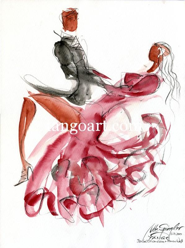 Isabel Edvardsson tanzt Tango